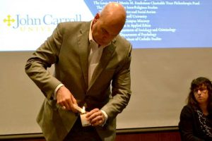 John Carroll University - Holocaust Remembrance Day Event: Candle Lighting