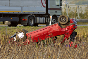Flipped Car - Accident Lawyer Cleveland