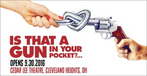 """""""Is That a Gun in Your Pocket?"""" Cleveland movie premiere."""